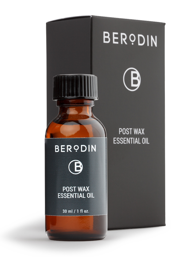 Step 4: Berodin Post Wax Essential Oil | About Naples Wax Center's 5-Step Process